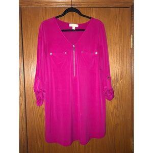 Michael Kors Pink Tunic Length Top